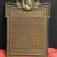 Abraham Lincoln Cast Iron Gettysburg Address