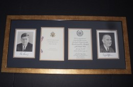 John F. Kennedy Inaugural Invitation Set