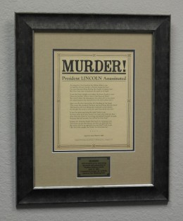 MURDER! Abraham Lincoln Assassination Broadside